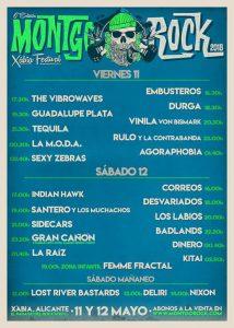 Horarios del Montgorock Xàbia Festival