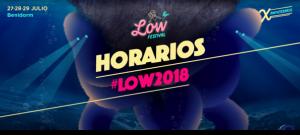 Horarios del Low Festival 2018