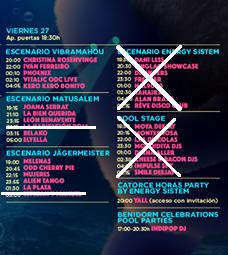 Itinerario del viernes en el Low Festival