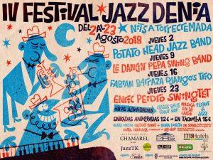 Cartel del IV Festival de Jazz de Denia