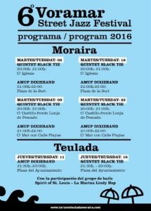 Cartel del Voramar Street Jazz Festival de Moraira