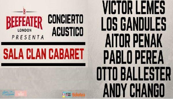 """Nuevas fechas para el Ciclo """"Acústicos Beefeater"""" de Clan Cabaret"""