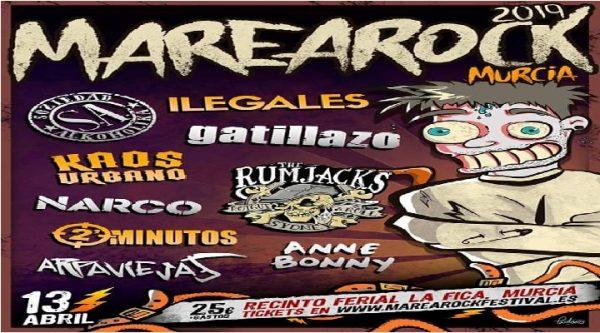 Cartel completo del Marearock Festival de Murcia