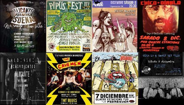 Conciertos en la Provincia de Alicante (del 6 al 9 de diciembre)