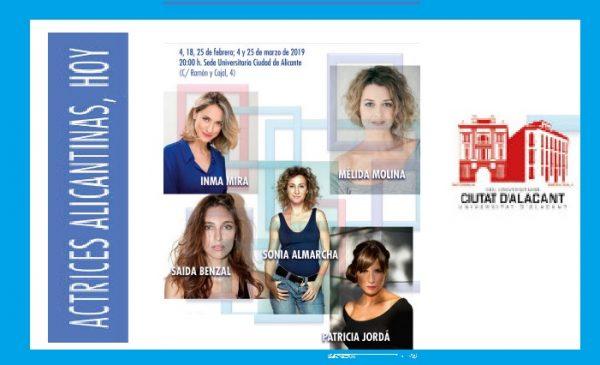 Encuentro con 5 actrices alicantinas.