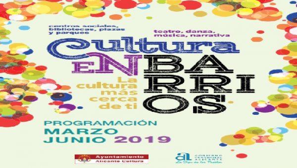 Cultura en Barrios (de marzo a junio)