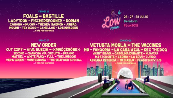 Cartel por días del Low Festival