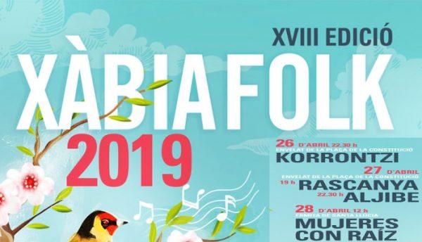 4 conciertos del Xàbia Folk para este fin de semana