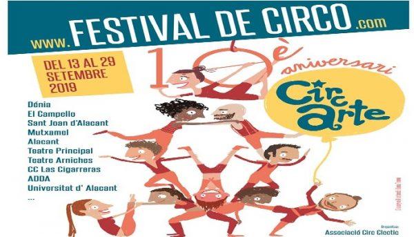 Circarte, diez años de circo en Alicante