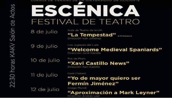 Escénica, festival de teatro en Villena