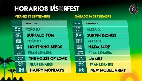 Horarios del Visor Fest 2019