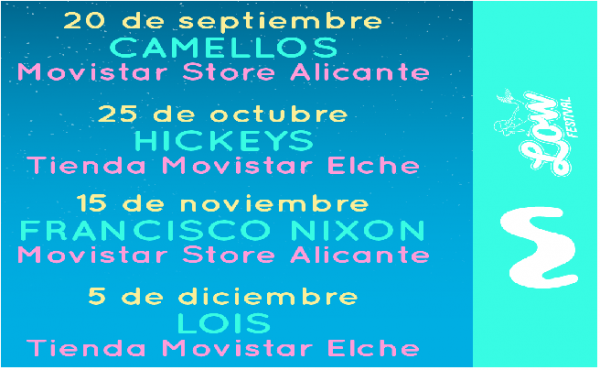 Nuevos showcases de Low Festival x Movistar.