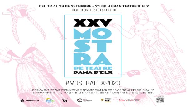 Programación de la XXV Mostra de Teatre Dama d´Elx