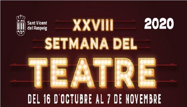 Programación de la XXVIII Semana del teatro de San Vicente